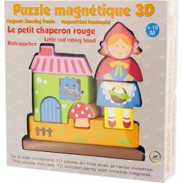 Magnetische 3D-puzzel in hout, 'Roodkapje' Vanaf 10 maanden