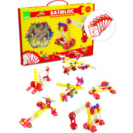 Houten constructiedoos Batibloc Vanaf 4 jaar