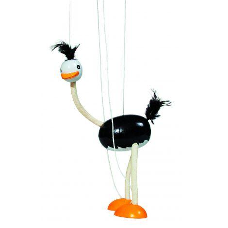 MarionetStruisvogelH26cm vanaf4 jaar